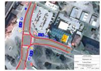 Prijedlog rješenja raskrižja Kolodvorske ulice i Ulice Ivana Meštrovića