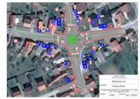 Prijedlog rješenja raskrižja Ulice Antuna Mihanovića-Cvjetne ulice-Ulice Grgura Karlovčana